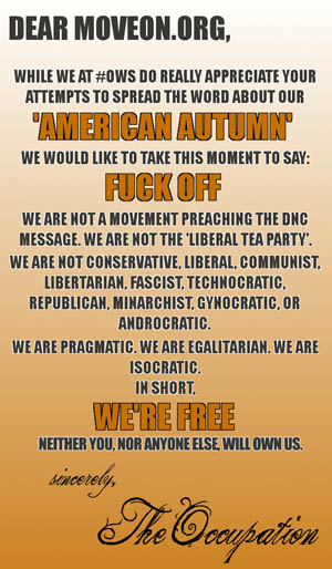 COINTELPRO: Open Letter from the Tea Party to the Occupy Wall Street Protestors Moveon-occupy-wall-street