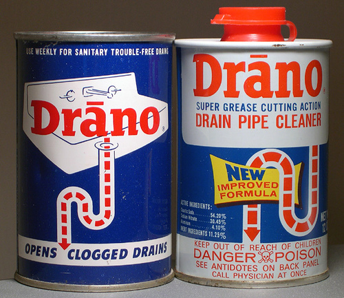 Drano Kitchen Sink: Any Solvent/Chemical