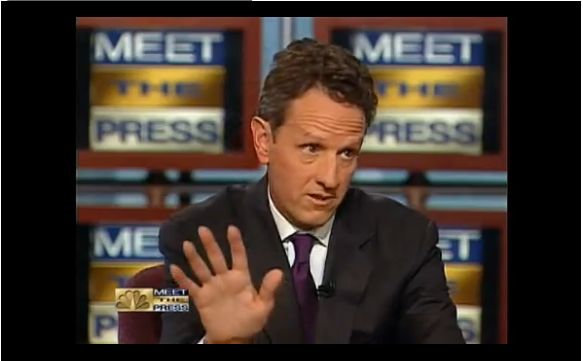 meet the press geithner video