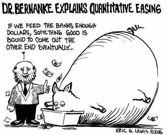 Bernanke, Quantitative Easing Cartoon