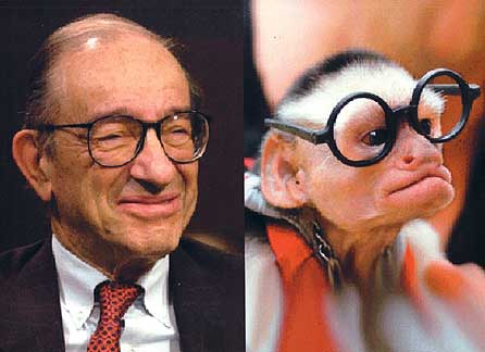 Alan Greenspan Looks Like A Monkey