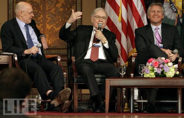 Henry Paulson, Warren Buffett, Jeff Immelt