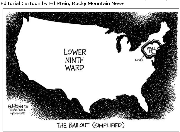 Wall Street bailout cartoon