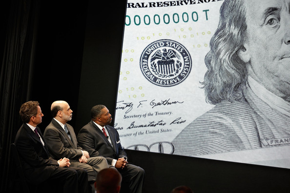 Ben Bernanke and Tim Geithner Dollar