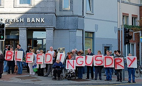 Anglo Irish Bank Protest
