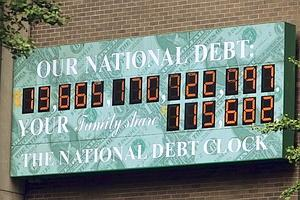 photo of the national debt clock