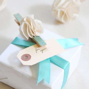 Fancy Clothespin Gift Toppers