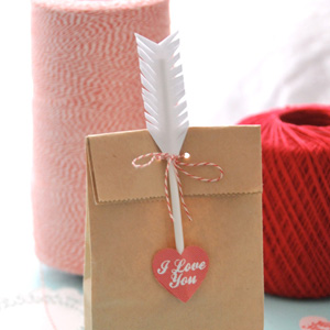 Cupid's Arrow Gift Bag Toppers
