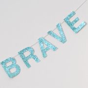 DIY Inspirational Glitter Garland