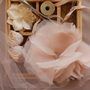 Chiffon and Tulle Flowers by Olivia Kanaley