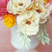DIY Crepe Paper Bouquet by Olivia Kanaley