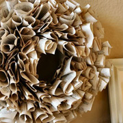 Repurposed Book Page Wreath by Living with Lindsay