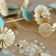 DIY Starburst Paper Garland from Project Wedding