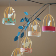 DIY Paper Bird Cages from Laurie Cinotto