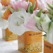 DIY Flowers in Vintage Tins by Leslie
