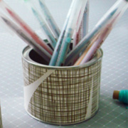 Fancy Tins Made with Wallpaper Scraps by Marichelle Hills