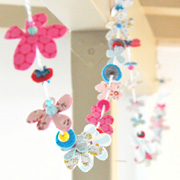 Fabric + Felt Garland by This Love is Forever