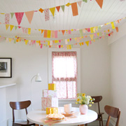 Fabric Party Garland via The Purl Bee