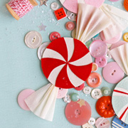 DIY Paper Candies + Candy Canes from Olivia Kanaley