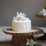 DIY Rustic Cake Stand from Once Wed