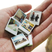 DIY Tiny Polaroid Magnets by Ambrosia Girl