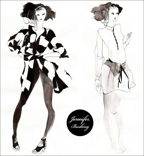 Fashion Illustration by Jennifer Busking Home Creature
