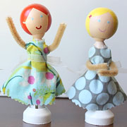 DIY Clothespin Dolls from Dandee