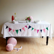 DIY Bunting Tablecloth from The Sweetest Occasion