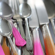 DIY Spray Painted Flatware from Sania Pell at Home