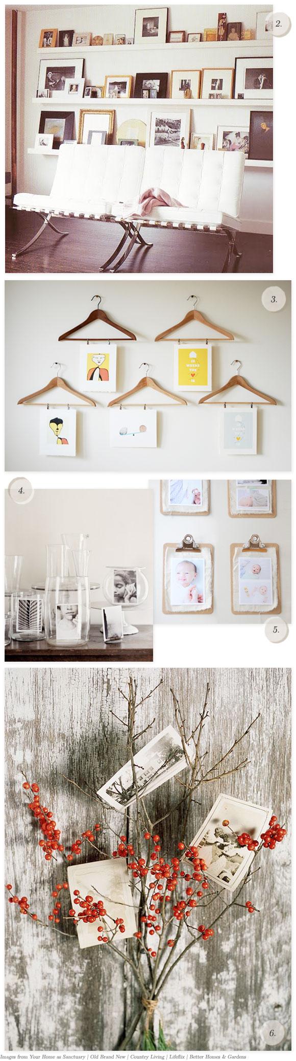 10 creative ways to display photos and art home creature