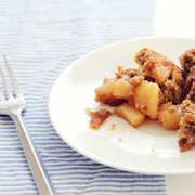 Pear Crisp with Pecan Brown Sugar Topping