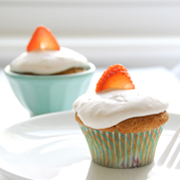 Gluten-free Strawberries and Cream Cupcakes