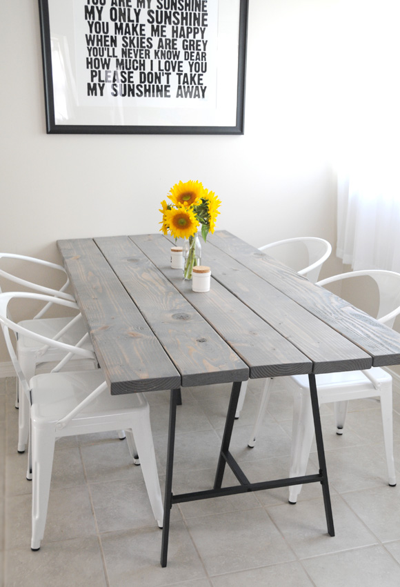 A Story About DIY Table And Four Awesome Chairs