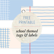 Printable School-theme Tags & Labels