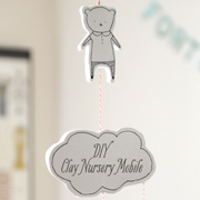 DIY Clay Mobile or Wall Hanging with Templates