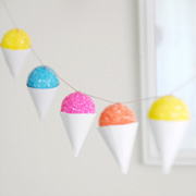 Snow Cone Party Decor