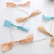 Easy Fabric Garland