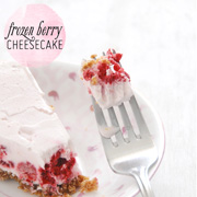 Frozen Berry Cheesecake with Gingersnap Pecan Crust