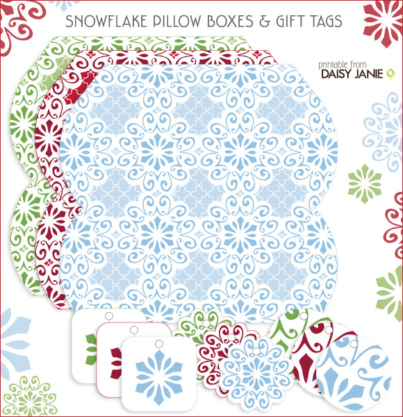 Free Printable: Pillow Boxes + Tags by Daisy Janie - Home - Creature ...