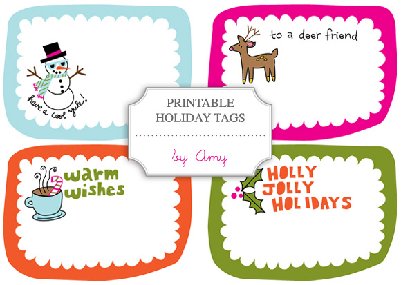 image regarding Holiday Tags Printable referred to as Cost-free Printable: Holiday vacation Tags/Labels through Amy - Household - Creature
