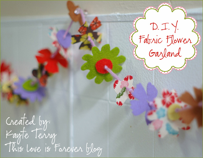 Home creature comforts daily inspiration style diy projects diy fabric flower garland mightylinksfo