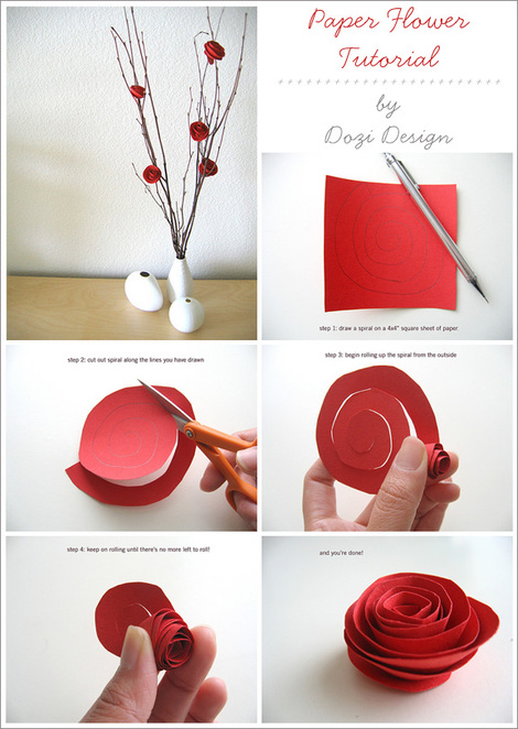 Tutorial tuesday diy paper flowers home creature comforts tutorial tuesday diy paper flowers i spotted this too simple to be true tutorial by dozi design yesterday and though you all might enjoy it mightylinksfo