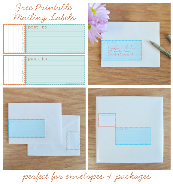 free printable mailing labels aqua and orange home With home address labels free