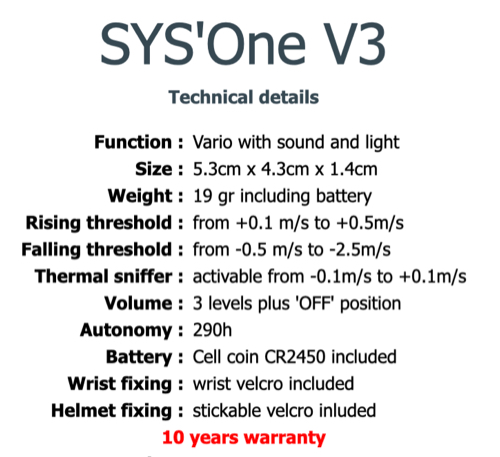 ⭐ Back up for Paraglider and ⭐ Hang Gliding Pilots ⭐Sys One Syride Micro Vario