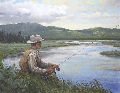 fly fishing paintings - photo #42