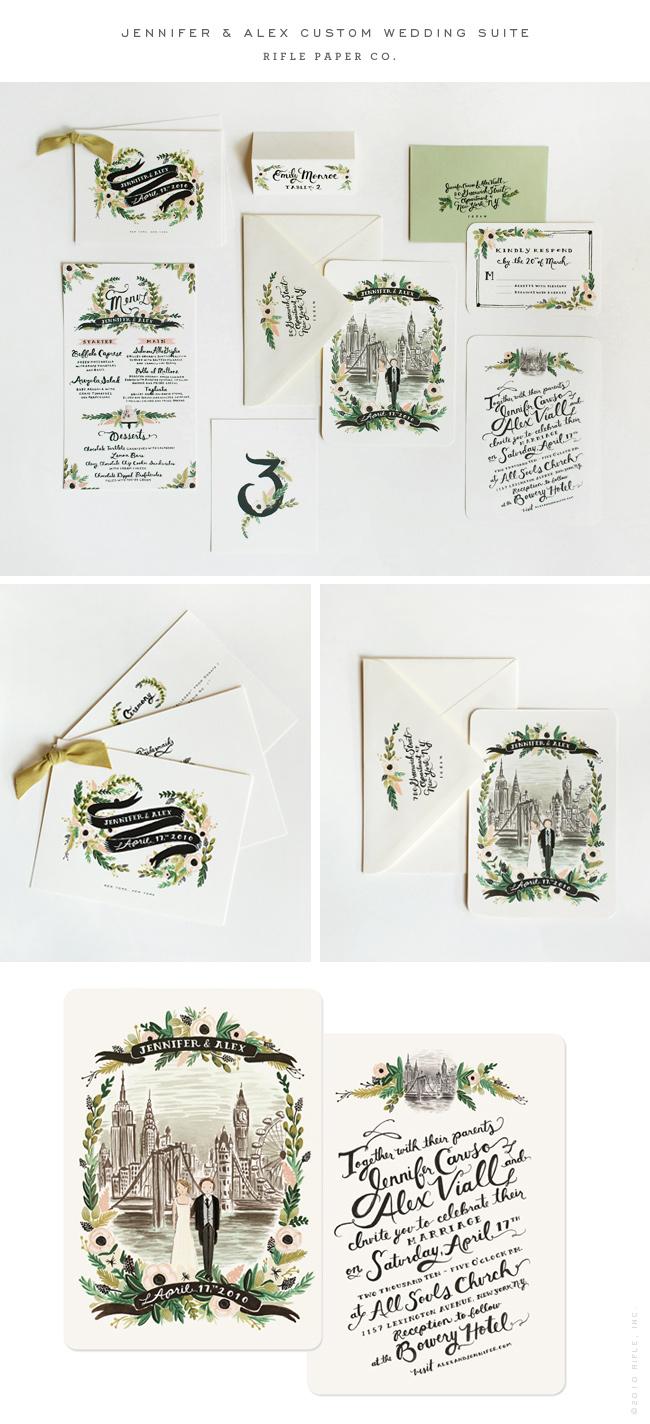 Rifle Paper Co. - RIFLE blog - jennifer & alex custom wedding suite