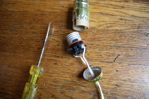 Elegant DIY Salvage Lamp Beginners Luck