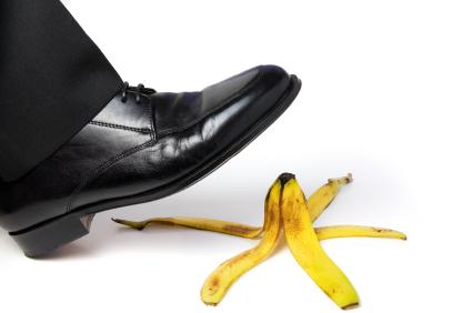 damn weak field pray slip banana peels throwing banana peels
