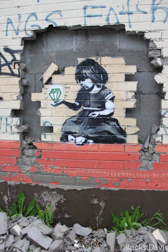 banksys artwork in detroit essay Banksy is arguably the most well-known street artist in the world some pieces of his urban graffiti art, with its distinctive stencil style, have sold at auction for as much as $500,000.