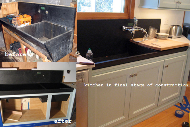 Slate Sink : ... - Integrating an Antique Slate Sink into a New Kitchen Design